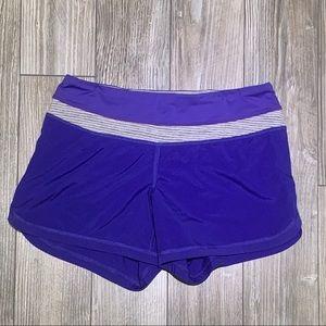 "Lululemon | Purple Speed Up Short Wet Dry Warm 4"""